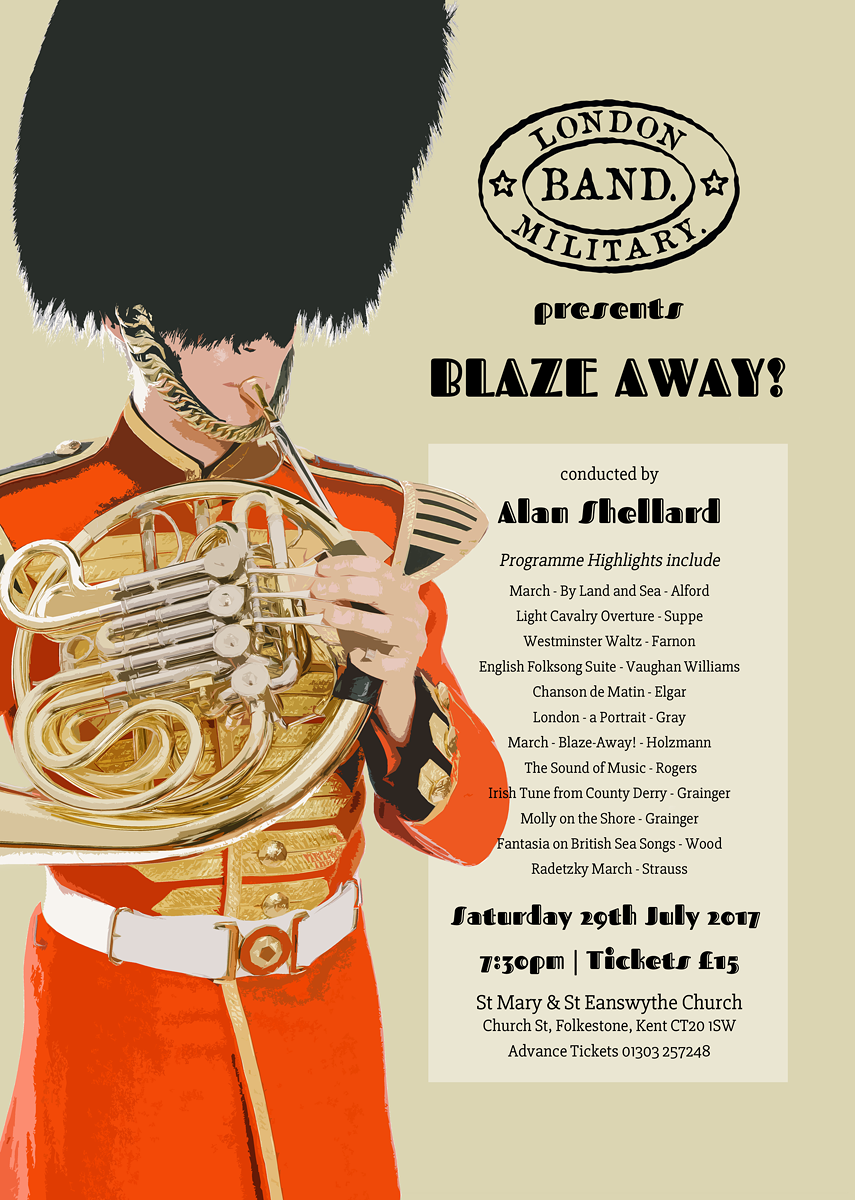 London Military Band Blaze Away Concert 2017
